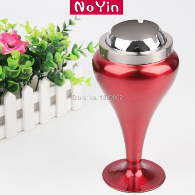 Top Selling Fashion Cup Cigarette Smoker Holder Ashtray Stainless Steel For Home  Decoration Outdoor