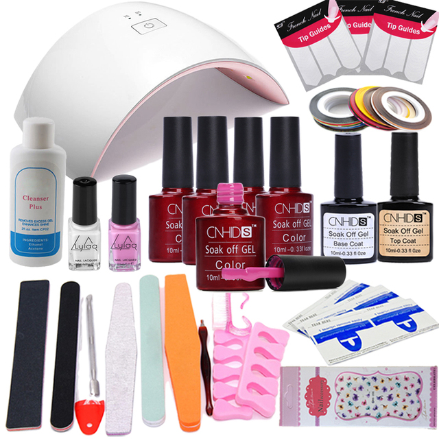 Cnhids 16pcs Lot Uv Gel Kit Soak Off Polish Nail