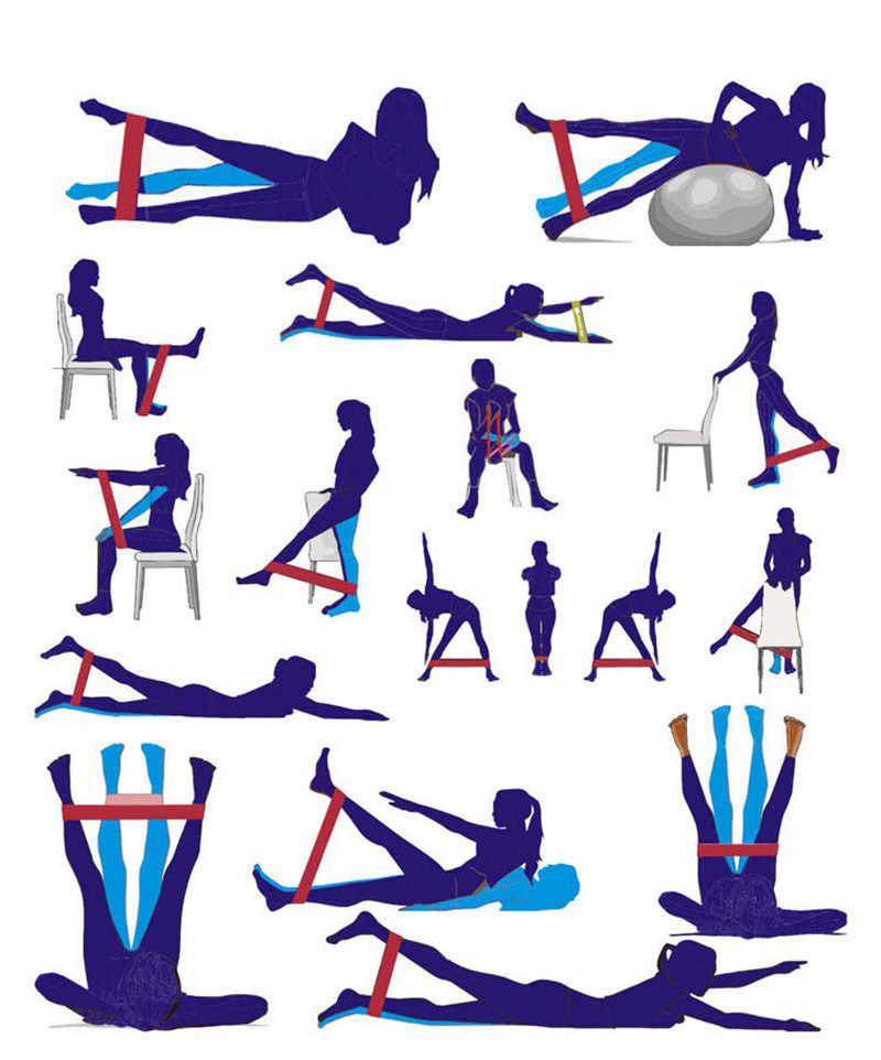 4 sztuk/zestaw sportowe gumy Pull Up zespół String Chest Developer opaski treningowe siłownia Stretch szkolenia mata do jogi pasek 10-50lb