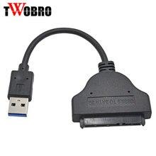 Высокоскоростной USB 3,0 до 22 PIN SATA адаптер usb-кабель 3,0 до 7 + 15 22Pin конвертер для 2,5 «SSD HDD драйвер привода жесткого диска