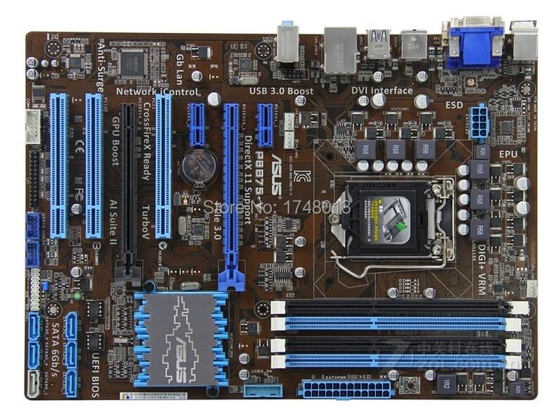 Free shipping original motherboard for P8B75-V DDR3 LGA 1155 B75 32GB for I3 I5 I7 CPU USB 3.0 b75 Desktop motherborad original b75 pro3 1155 b75 motherboard