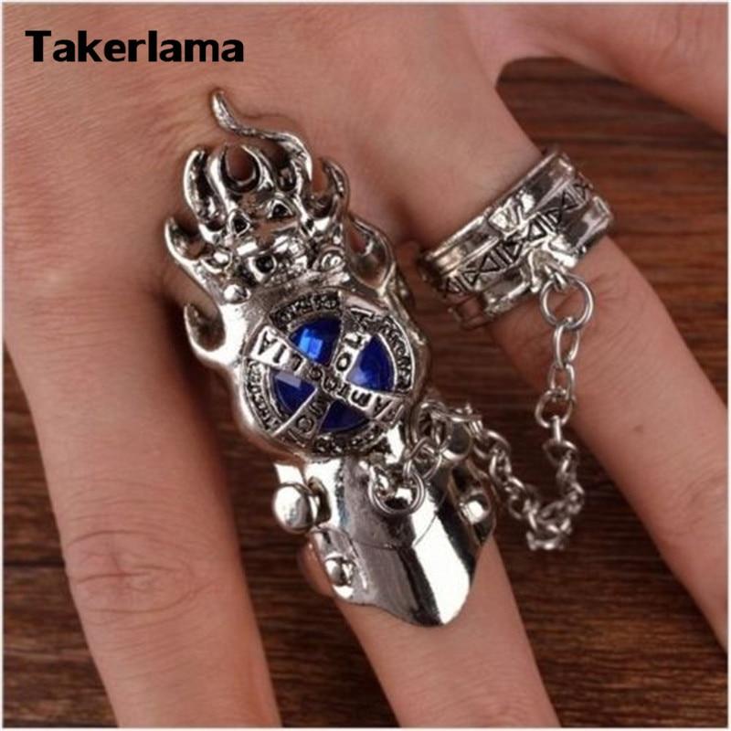 Takerlama 1pcs Anime Katekyo Hitman Reborn Finger Rings Vongola Family Coaplay Prop Ring Gem Turn Men Cosplay Gift