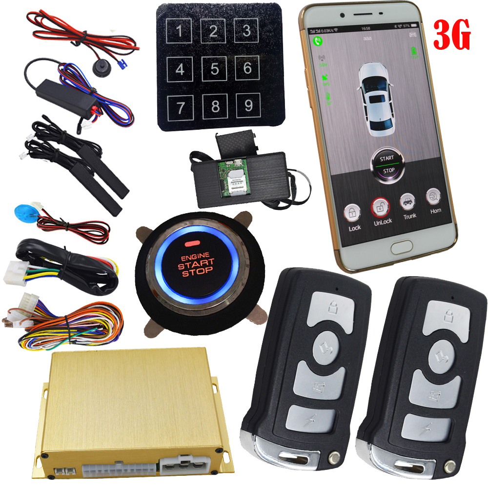 Gsm Smart Key Car Alarm System With Realtime Online Gps Tracking Passive Keyless Entry Auto Lock Or Unlock Car Door
