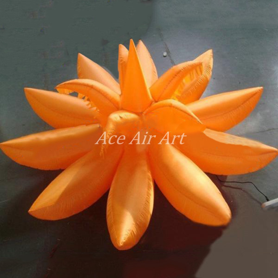 Best price attractive decoration inflatable giant flower inflatable decoration inflatable led lighting lotus flower exhibition balloon inflatable led flower for decoration izmirmasajfo