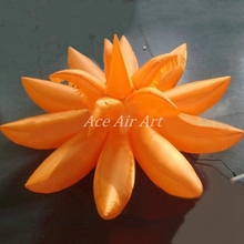 Decoration inflatable LED lighting lotus flower exhibition balloon, inflatable LED flower for decoration