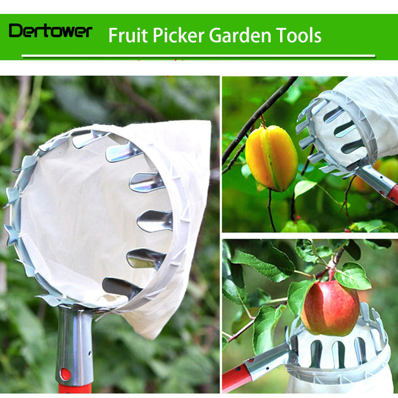 Metal Fruit Picker Convenient Horticultural Fruit Picker Gardening Apple Peach Picking Tools   DT6