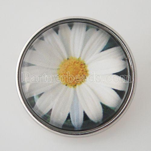 10 unids/lote 18mm de impresión de cristal broche botón joyas aleación de lujo inferior fit ginger snaps botones collar KB4327