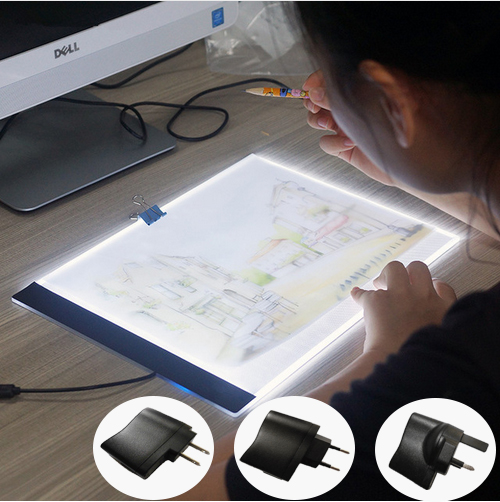 A4 LED Light Tablet Ultrathin 3.5mm Pad Apply to EU/UK/AU/US/USB Plug Diamond Embroidery Diamond Painting Cross Stitch