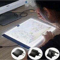 A4 LED Light Tablet Ultrathin 3 5mm Pad Apply To EU UK AU US USB Plug