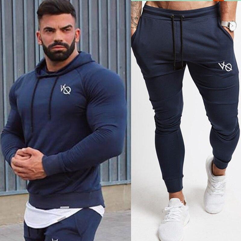 0d51760eaa637 Mężczyźni Topy I Spodnie Garnitur Dorywczo Mody Sportowej Zestawy Bluza Z  Kapturem Bluza Spodnie Dresowe Męskie