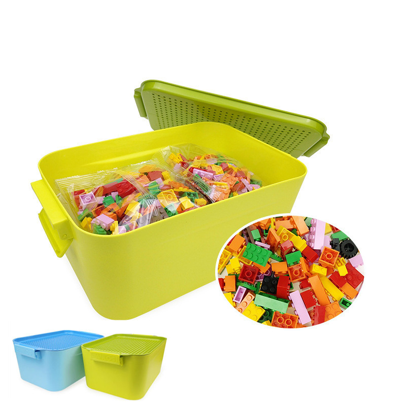 2019 Children Gifts Bricks Creative Kids DIY Legoing Toys City 900PCS Compatible Classic Building Blocks With Storage Box Or No