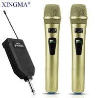 XINGMA PC-K1 беспроводной микрофон профессиональный ручной 2 канала студия двойной УКВ Динамический микрофон для караоке системы компьютера KTV