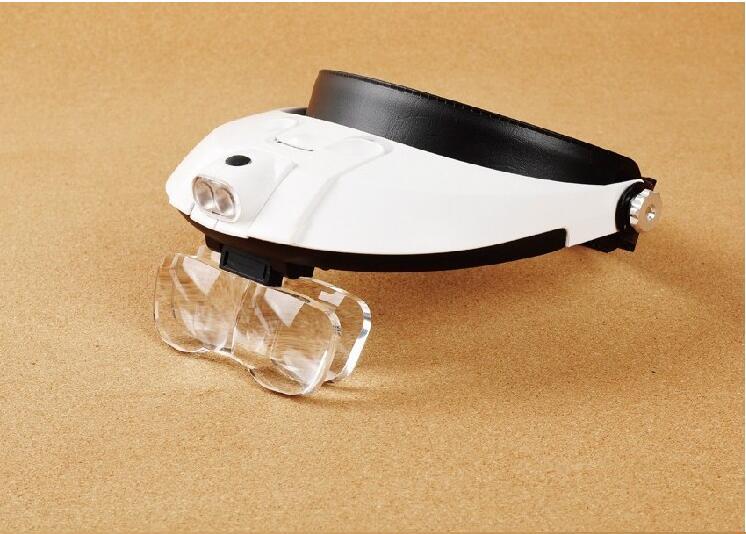 ФОТО  10X 35X Illuminated Helmet Head Magnifier Headband Surgical Dental Loupes with LED Lamp