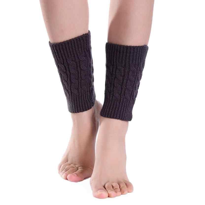 Nuevo estilo corto que hace punto los calcetines calentadores de la pierna de la cubierta de la pantorrilla de la protección térmica elástico de las mujeres calcetines transpirables calcetín Meias Hocok