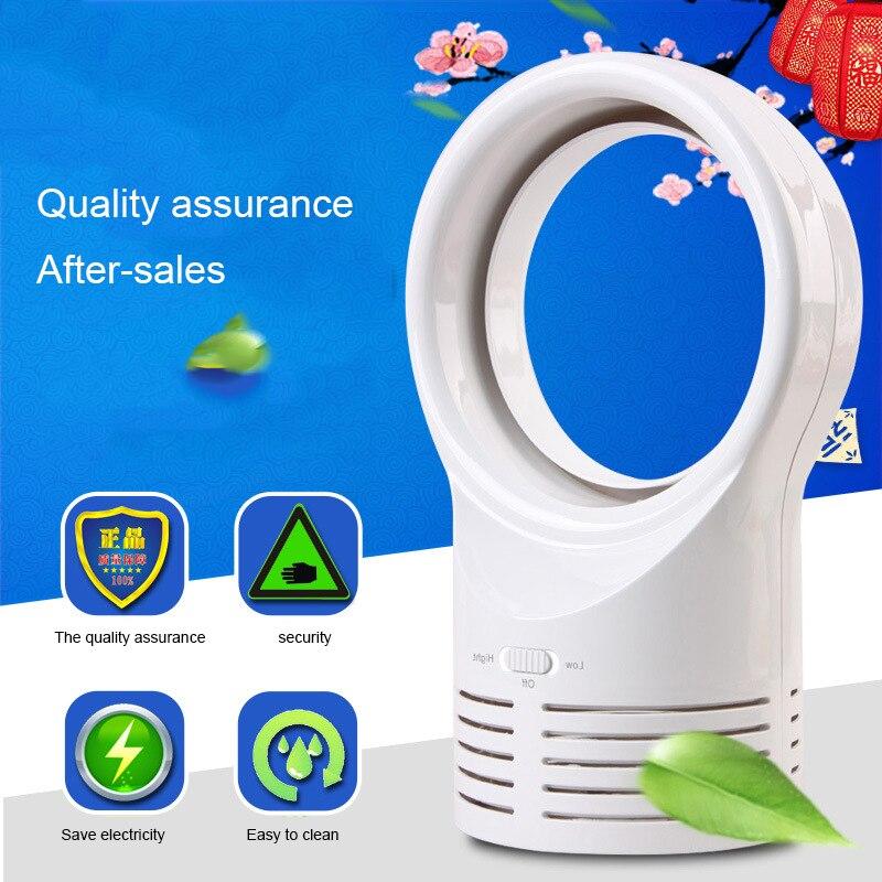 Prix pour Grande Taille Sans Lame Silencieux Mini Ventilateur Creative Bureau Table Cool Naturel Vent Rechargeable Fans
