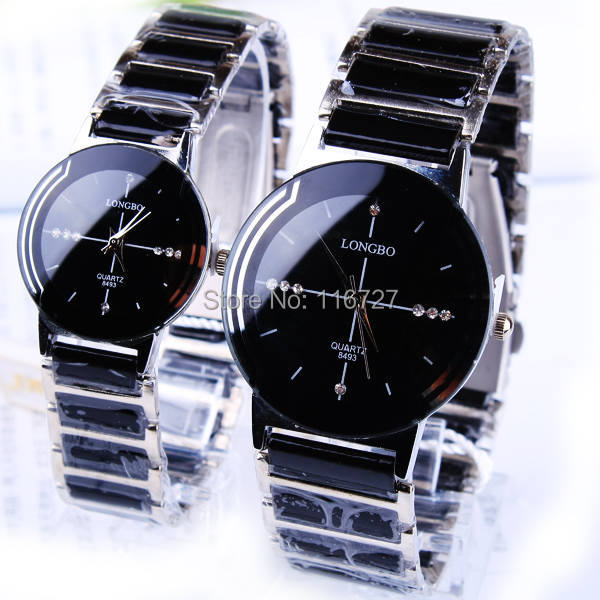 Hot Selling Classic Quartz Lovers Watch Ceramic Watch Waterproof Gift Woman Watch 2016 New LONGBO Men Luxury Brand Wristwatches