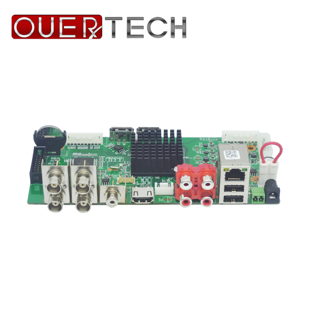 OUERTECH AHD CVI TVI IP CVBS 5 in1 4CH 5MP DVR board 4CH RCA Audio IN