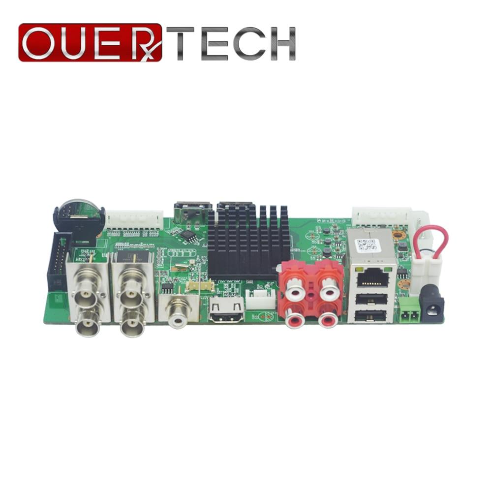OUERTECH AHD CVI TVI IP CVBS 5 in1 4CH 5MP DVR board 4CH RCA Audio IN 2 SATA HDD Port ONVIF Surveillance CCTV DVR Main board