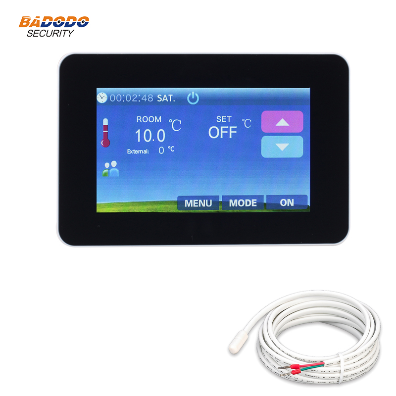 4.3 Inch Colorful Touch Screen Weekly Programmable Electrical Heating Thermostat Temperature Controller For Floor Heating System