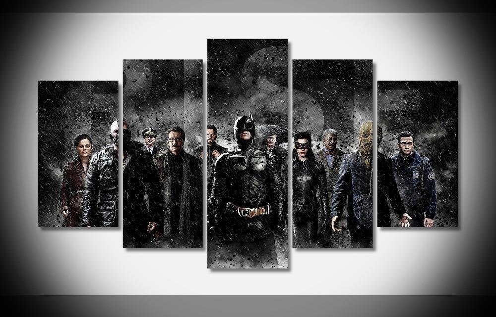 7374 batman catwoman raining bane selina kyle jim gordon messenjahmatt scarecrow the dark knight rises movies Poster Framed