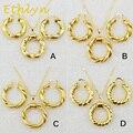 Ethlyn Etíope Dubai oro Africano conjuntos de collar y aretes de joyería chapados en oro para Israel y el Sudán/Árabe/medio hace punto del este de las mujeres
