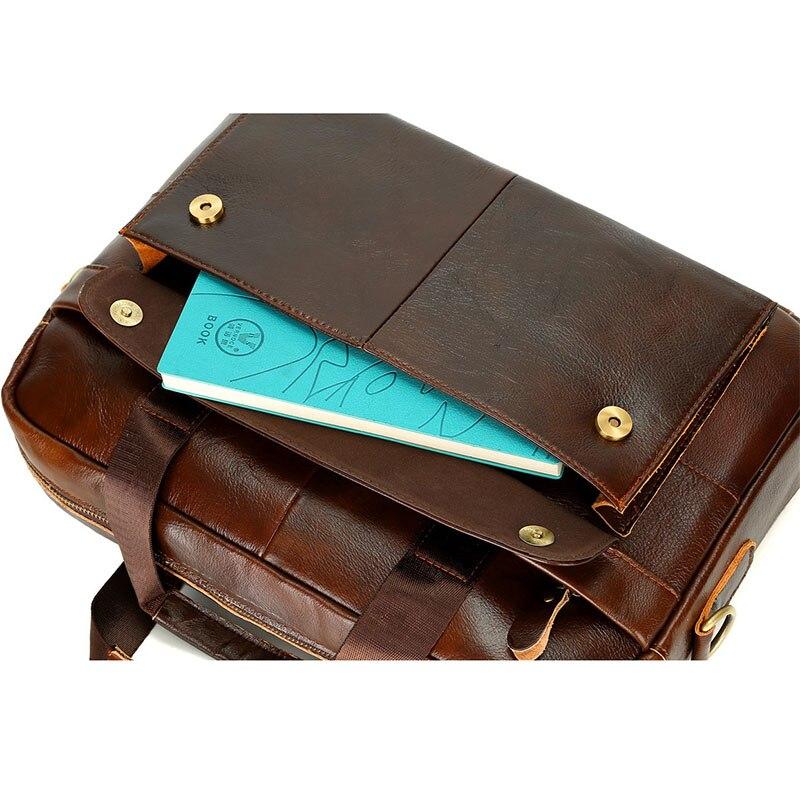 Décontracté hommes Messenger porte-documents sac ordinateur portable homme sacs à main en cuir PU hommes sacs à bandoulière Designer porte-documents pour homme voyage - 3