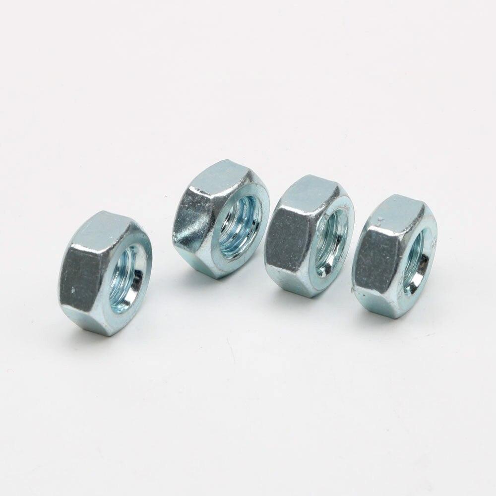 20 шт Гайка внешний гайки шестигранные M4/M5/M6/M8/M10 DIN934 метрической резьбой 304 Нержавеющая сталь