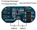 10 UNIDS/LOTE Módulo de Circuito de Protección 2 S 7A BMS PCM PCB Junta de Protección de La Batería De 7.4 V Li-ion de La Batería lipo Paquete de la célula