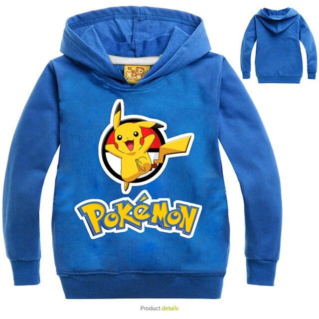 Fashion Cartoon Pikachu Boys Girls Jackets High Quality Children Coats Hoodies Clothes Long Sleeve Autumn Toddler Sweatshirts