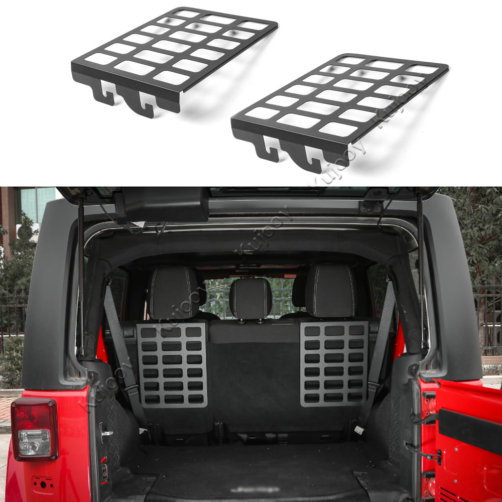 Metal Car Interior Trunk Rear Door Rack Cargo Luggage Carrier Shelf Storage Rack For Jeep Wrangler JK 2007 Up Car Styling for mazda cx 5 cx5 2nd gen 2017 2018 interior custom car styling waterproof full set trunk cargo liner mats tray protector