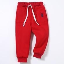 AJLONGER kids winter warm sports pants baby boy girl newborn trousers plus thick velvet long Children