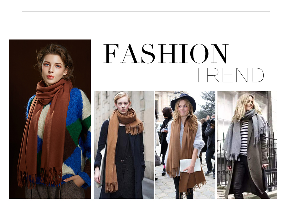 Winter Large Tassel Scarf 180cm65cm 23 Colors Wool Knitted Scarves 2019 Autumn 100% Cashmere Long Solid Scarf Women Warm Shawl (3)