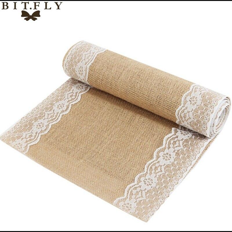 Aliexpress Com Buy 10pcs 30x275cm Vintage Burlap Lace