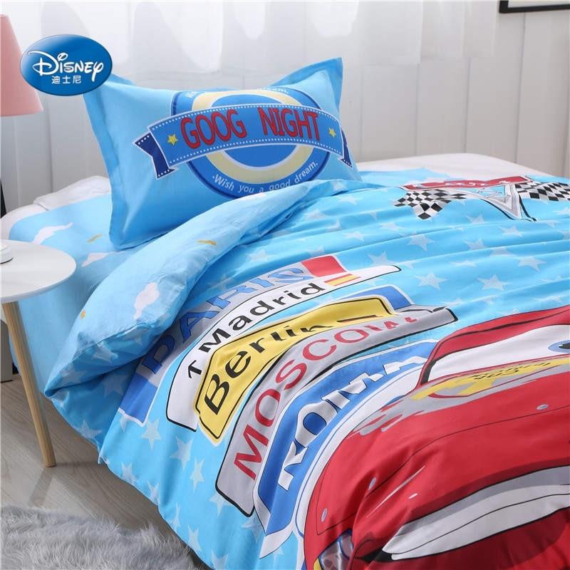Lightning Mc Queen Car Bedding Set Twin Size Duvet Cover Set for Kids Bedroom Decor Bed Sheet Home Textile Single Boys Gift 3