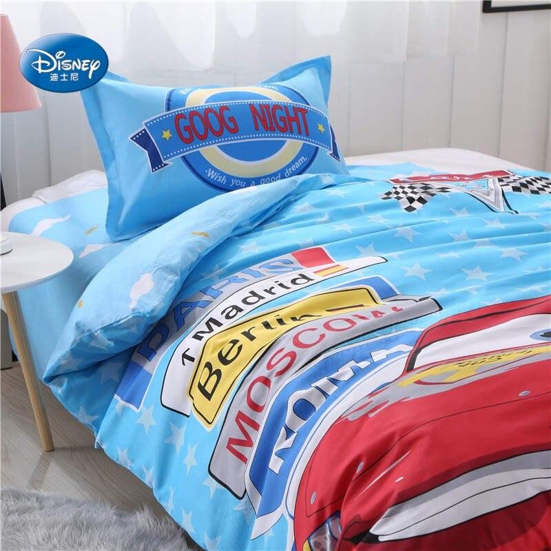البرق Mc الملكة سيارة طقم سرير التوأم حجم حاف مجموعة غطاء للأطفال ديكور غرفة نوم غطاء سرير المنسوجات المنزلية واحد الأولاد هدية-في مجموعات الفراش من المنزل والحديقة على  مجموعة 3