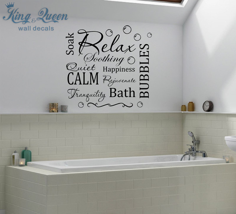 Relax Calm Bubbles Bath Wall Art Sticker Decal Vinyl Home Decor Stikers For Wall  Decoration Bathroom