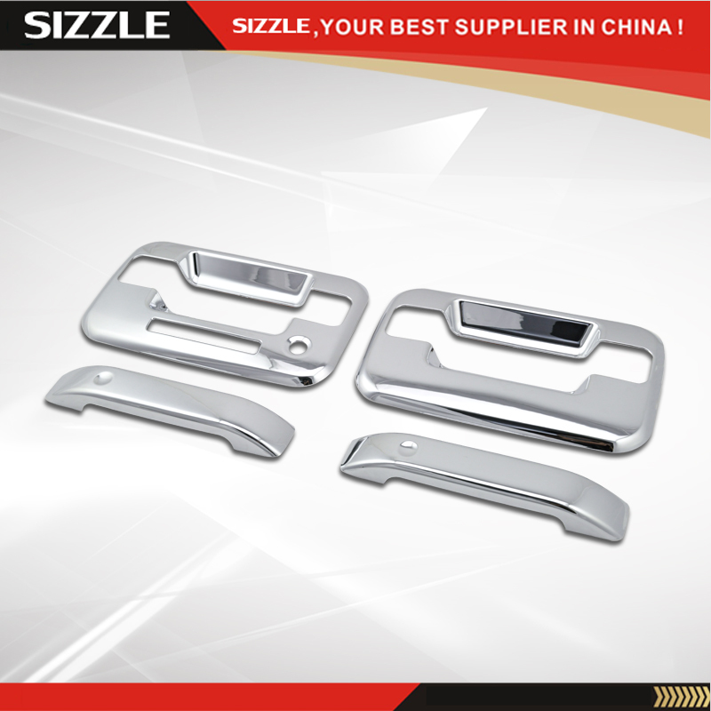 2004-2015 F150 2D Door Handle Cover ABS Plastic Chrome For Ford F150 Regualr Cab Super Cab No PSKH W/ Key Pad