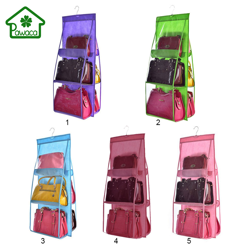 6-Pockets Handbag Storage Organizer Anti-dust Cover Large ... |Purse Big Closets