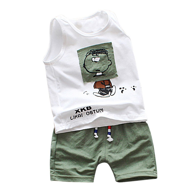 Cute Boy Clothes Summer Brand Infant Clothing Cartoon Sleeveless Tops Vest Hole Denim Pant Outfits Kids Bebes Jogging Set ...