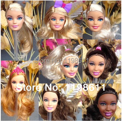 DIY Toy Equipment Authentic Heads For Barbie Dolls, DIY Birthday Items Combine-Fashion Dolls Heads Free Delivery
