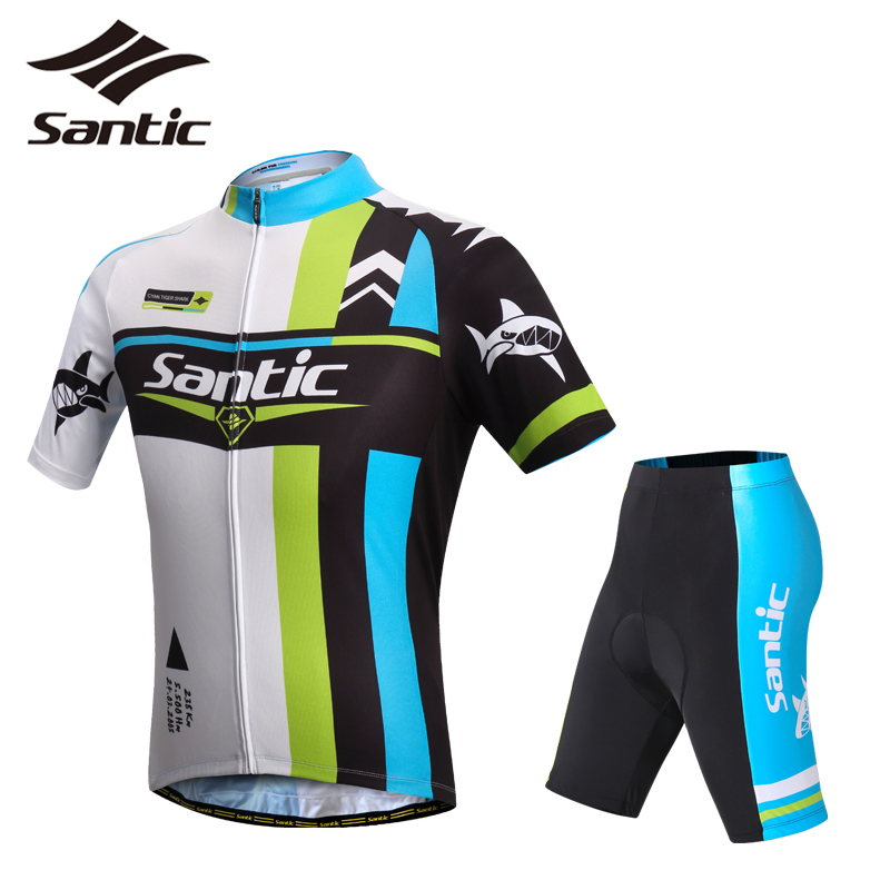 Santic Pro Racing Team Short Sleeve Cycling Jersey Sets Men Breathable Anti-sweat Jersey Kits MTB Road Downhill Cycling Set 2017 santic men short sleeve cycling jersey breathable summer cycling clothing mtb road downhill bicycle bike jersey anti sweat
