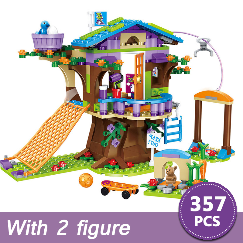 357pcs Friends Adventure Camp Tree House Emma Mia Building Bricks Figure Toy For Children Compatible With Legoinglys For Girls