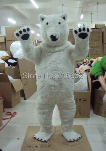cosplay costumes Polar Bear Mascot Costume Fancy Dress Adult Size