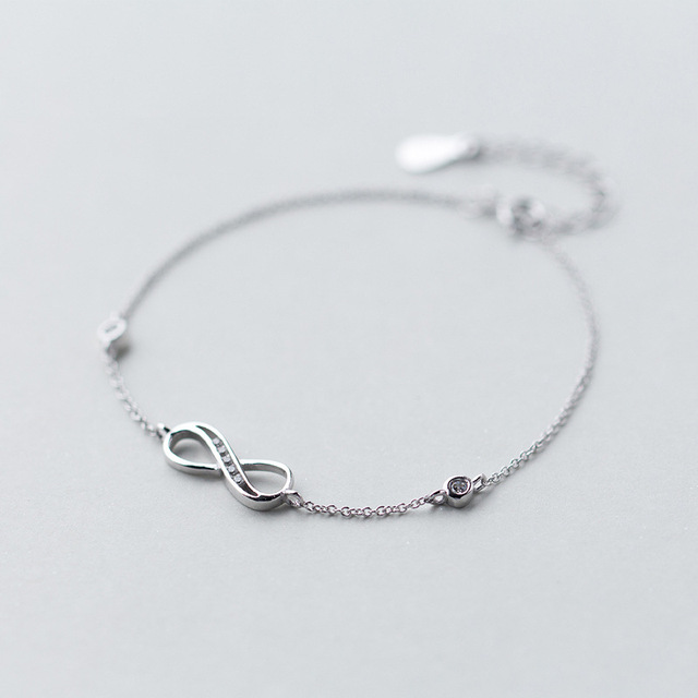1pc Real 925 Sterling Silver Infinity Symbol Eternal Love Knot