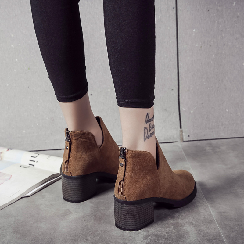 New 2018 Autumn Early Winter Shoes Women Flat Heel Boots Fashion Women's Boots Brand Woman Ankle Botas Hard Outsole 5 7 inch tft lcd screen a070vtt01 1 display panel