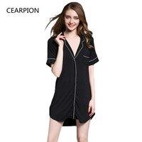 CEARPION/Летняя сексуальная одежда для сна для женщин, одежда для сна из модала, мягкая Домашняя одежда, повседневное интимное нижнее белье, сек...
