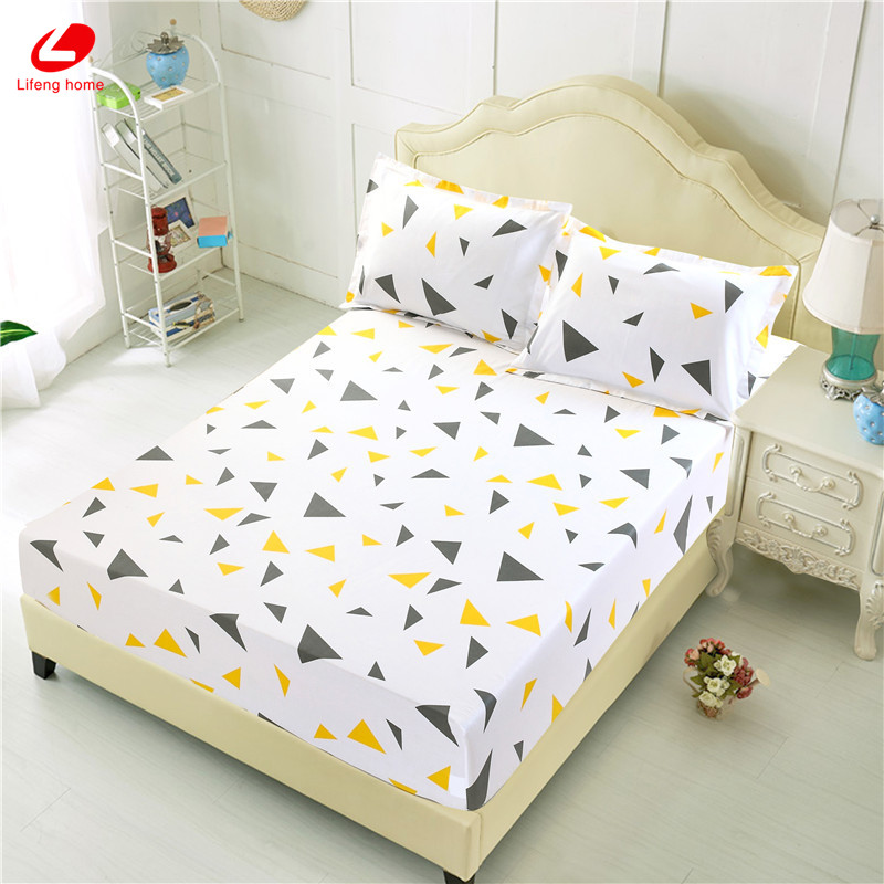 Home textile bed sheet sheet flower mattress cover printing bed sheet elastic rubber bedclothes 180*200cm summer bedspread band 53