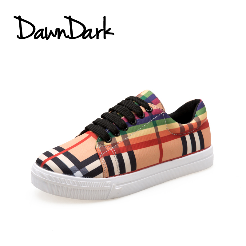 Women Flats Casual Shoes Spring Summer Female Zapatillas Mujer Fashion Shoes Lace Up Ladies Canvas Flat Sneakers