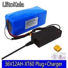 LiitoKala 36 V 12ah 10S4P Lelectric bateria bicicleta 18650 Bateria akumulator litowo-jonowy 500 W Alta Potência 42 V Motocicleta skuter XT60 wtyczka