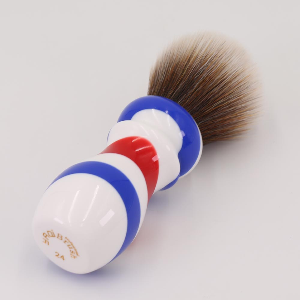 Yaqi New Barber Pole Style 24mm Mew Brown Synthetic Knot Shaving - Barbering og hårfjerning - Foto 2